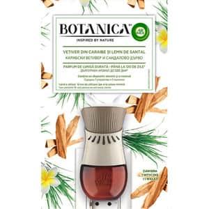 Odorizant de camera AIR WICK Botanica Vetiver din Caraibe si Lemn de Santal, 19 ml