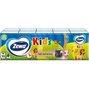 Servetele nazale ZEWA Kids Pocket, 4 straturi, 10 pachete
