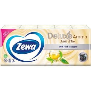 Servetele nazale ZEWA Deluxe Spirit of tea, 3 straturi, 10 pachete