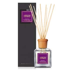 Odorizant cu betisoare AREON Home Perfume Patchouli Lavender Vanilla Black Line, 150ml