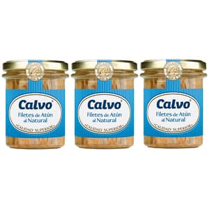 File de ton in sos natur CALVO, 200g, 3 bucati