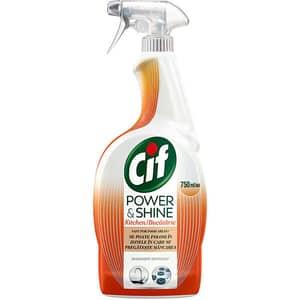 Solutie de curatare bucatarie CIF Power & Shine Spray Degresant, 750 ml