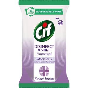 Servetele umede dezinfectante CIF Flower Breeze, 36 bucati