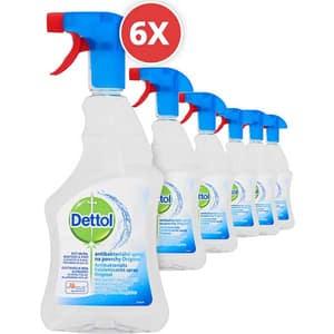 Pachet spray dezinfectant DETTOL Trigger Original, 6 x 500 ml