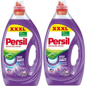 Pachet promo: Detergent lichid PERSIL Color Gel, 2 x 4 l, 160 spalari
