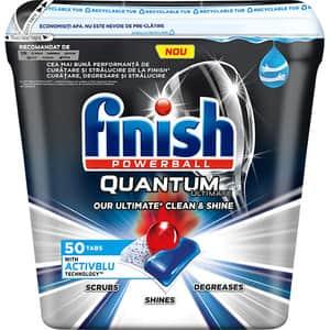 Detergent pentru masina de spalat vase FINISH Quantum Ultimate Activblu, 50 tablete