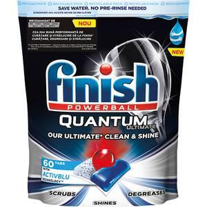 Detergent pentru masina de spalat vase FINISH Quantum Ultimate Activblu, 60 tablete