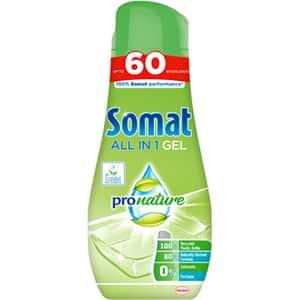 Detergent vase pentru masina de spalat vase SOMAT Pro Nature Gel, 60 spalari