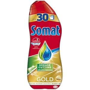 Detergent pentru masina de spalat vase SOMAT Gel Gold Anti-grease, 540 ml, 30 spalari