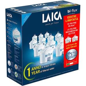 Set filtre apa LAICA F12K002: 10 cartuse filtrante Laica Bi-flux + 2 cartuse Magnesium Active