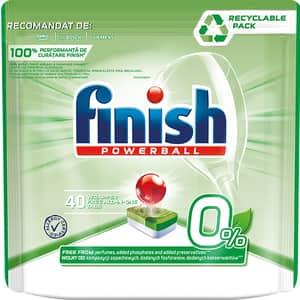 Detergent pentru masina de spalat vase FINISH Powerball 0%, 40 tablete