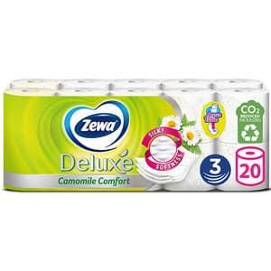 Hartie igienica ZEWA Deluxe Camomile comfort, 3 straturi, 20 role