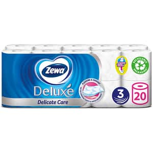 Hartie igienica ZEWA Deluxe Delicate Care, 3 straturi, 20 role