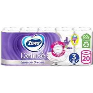 Hartie igienica ZEWA Deluxe Lavender dreams, 3 straturi, 20 role