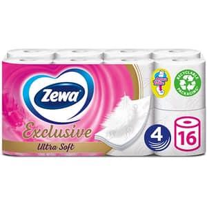 Hartie igienica ZEWA Exclusive Ultra Soft, 4 straturi, 16 role