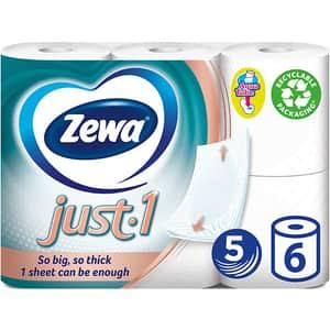 Hartie igienica ZEWA Just-1, 5 straturi, 6 role