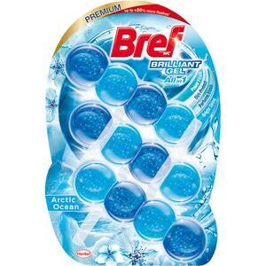Odorizant toaleta BREF Brilliant Gel All in 1 Arctic Ocean, 3 x 42 g