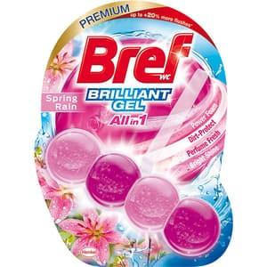 Odorizant toaleta BREF Brilliant Gel All in 1 Spring Rain, 42 g