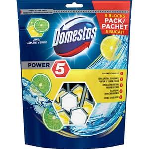Odorizant Toaleta DOMESTOS Power 5 Maxi Pack Lime 5x55g