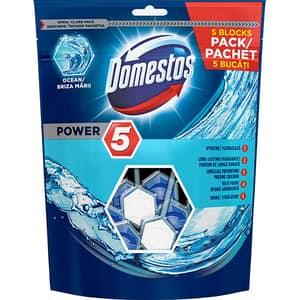 Odorizant Toaleta DOMESTOS Power 5 Maxi Pack Ocean 5x55g