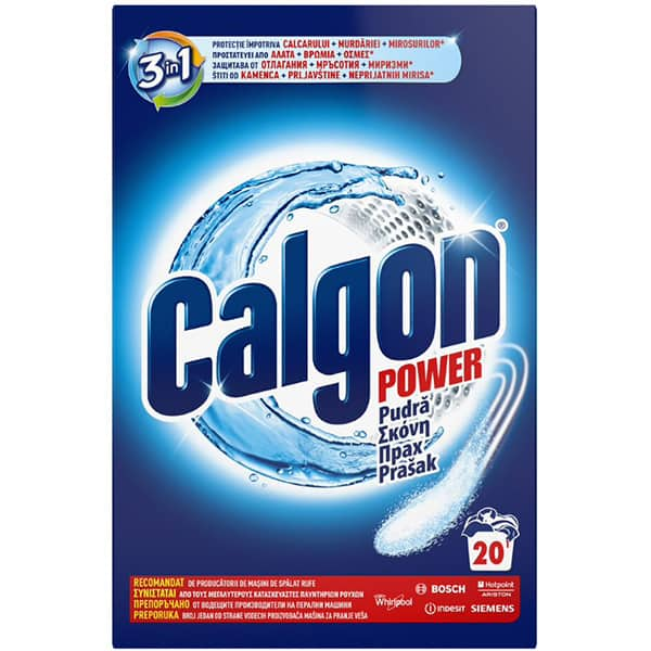Pudra anticalcar CALGON 3 in 1 Protect & Clean, 1 kg