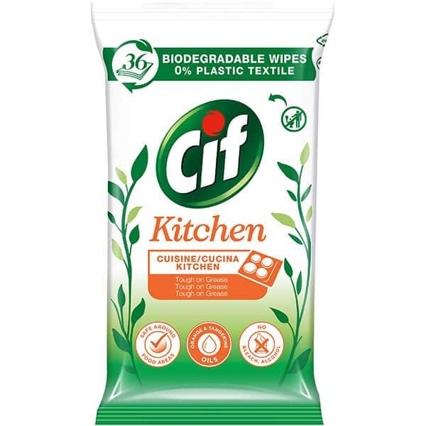 Servetele umede bucatarie degresante CIF, 36 bucati