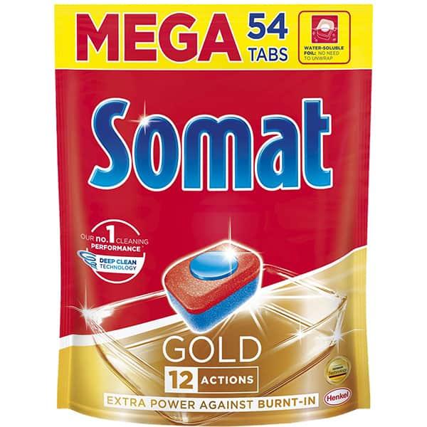 Detergent pentru masina de spalat vase SOMAT Gold, 54 tablete