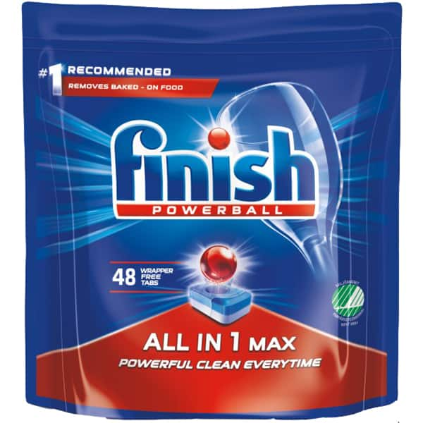 Detergent pentru masina de spalat vase FINISH All in One Max Regular, 48 bucati