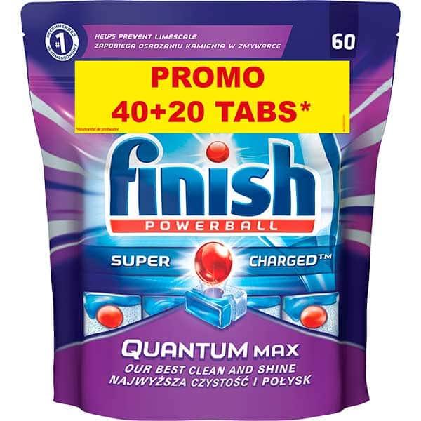 Detergent vase pentru masina de spalat vase FINISH Quantum, 40+20 tablete