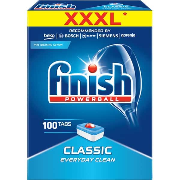 Detergent vase pentru masina de spalat vase FINISH Regular, 100 tablete