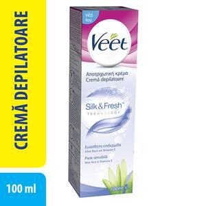 Crema depilatoare VEET, cu Aloe Vera si Vitamina E pentru piele sensibila, 100ml