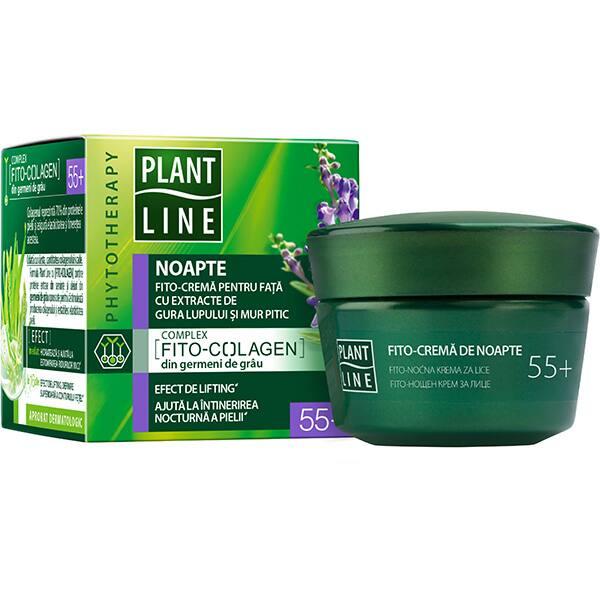 Crema antirid de noapte cu extract de mur pitic PLANT LINE, 55+, 45ml