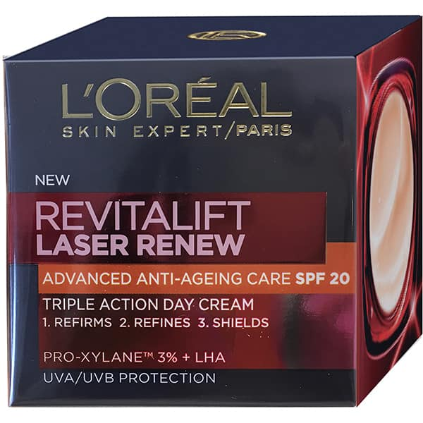 Crema antirid L'OREAL PARIS Revitalift Laser, SPF 20, 50ml