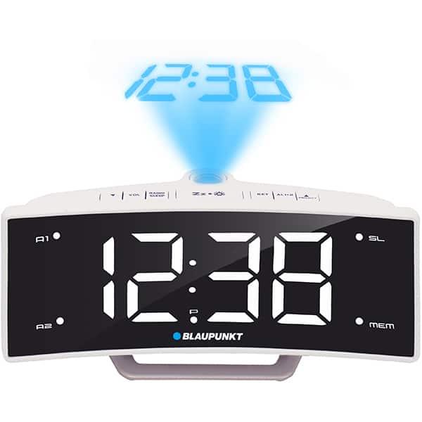 Radio cu ceas BLAUPUNKT CRP7WH, FM, Proiector, Incarcator USB, alb