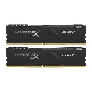 Memorie desktop KINGSTON HyperX Fury Black, 2x4GB DDR4, 2666MHz, CL16, HX426C16FB3K2/8
