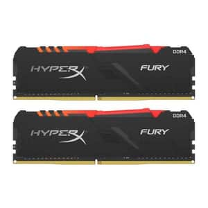 Memorie desktop KINGSTON HyperX Fury RGB 16GB DDR4, 3000MHz, CL15, HX430C15FB3AK2/16