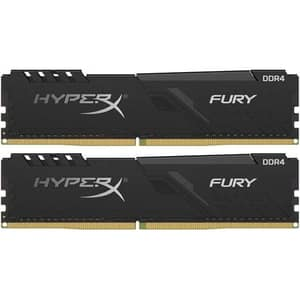 Memorie desktop KINGSTON HyperX Fury Black, 2x8GB DDR4, 2666MHz, CL16, HX426C16FB3K2/16