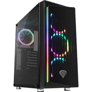 Carcasa PC GENESIS Irid 400 RGB, USB 3.0, Fara sursa, negru