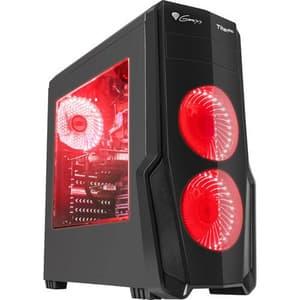 Carcasa GENESIS Titan 800 Red, USB 3.0, negru