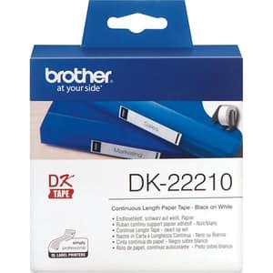 Banda etichete BROTHER DK-22210, 29 mm, 30,48 m, Negru pe Alb