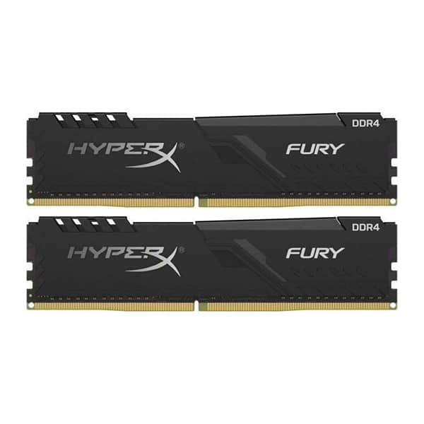 Memorie desktop KINGSTON HyperX Fury Black, 2x4GB DDR4, 2666MHz, CL16, HX426C16FB3K2/8