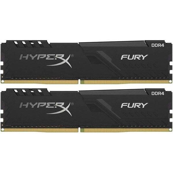 Memorie desktop KINGSTON HyperX Fury Black, 2x8GB DDR4, 2666MHz, CL16, HX426C16FB3K2/16