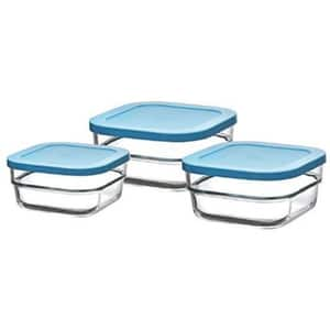 Set caserole PASABAHCE Gourmet 1046126, 3 piese, 0.5-2l, sticla, transparent