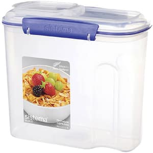 Cutie pentru cereale cu capac SISTEMA 4031071, 2.8l, plastic, transparent