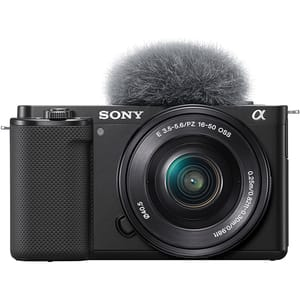 Aparat foto Mirrorless SONY Alpha ZV-E10, 24.2MP, 4K, negru + Obiectiv 16-50mm