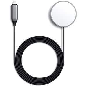 Cablu magnetic  de incarcare wireless pentru iPhone 11/12 SATECHI ST-UCQIMCM, Type C, Space Gray
