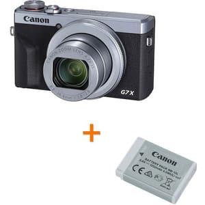 Camera foto digitala CANON PowerShot G7X MARK IIl + Acumulator Canon NB-13L, 4K, 20.1Mp, 4.2x, 3 inch, argintiu