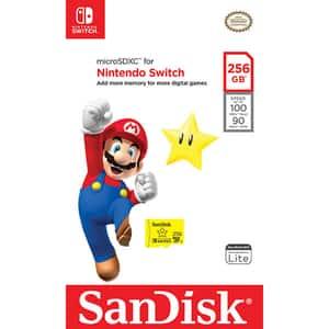 Card de memorie SANDISK microSDXC pentru Nintendo Switch, 256GB, U3, 100MBs