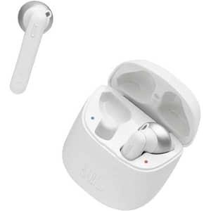 Casti JBL Tune 220TWS, True Wireless, Bluetooth, In-ear, Microfon, alb