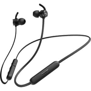 Casti PHILIPS TAE1205BK/00, Bluetooth, In-ear, Microfon, negru